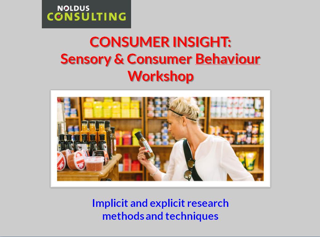 Consumer Insight: Sensory & Consumer Behaviour Workshop